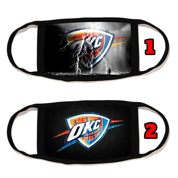 2 PACKS Oklahoma City Thunder face mask face cover